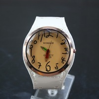 Fashionable WoMaGe Large Big Leather Band Watch Pencil Hand Quartz Wristwatches Casual Watch