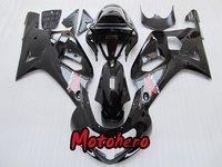 GSXR 600 750 01-03 GSXR600 GSXR750 2001-2003 GSX R600 R750 01 02 03 2001 2002 2003 gloss black motorcycle Fairing kit+windscreen