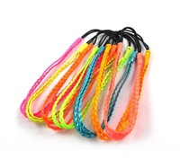 Free Shipping (12 pieces/lot) Double-layer Faux Leather weave Hair band Mixcolor Sale