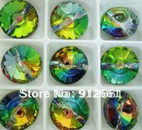 Free shipping (18 pcs/lot) W-3015 001-VM rhinestone button 16mm,Rivoli volcano
