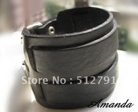 SL180/leather bracelet,high quality punk cowhide bracelet,fashion jewelry,100% genuine leather,100% handmade jewelry