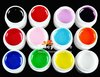 Free Ship Nail Art 2x 12 Colors Manicure UV Gel Mix Pure Buliding Polish Set Solid Pigment Builder Milky Acrylic Tips Glue
