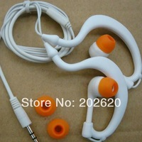 3.5mm interface ear-hook Earphone Headphone with ear hook,Free Shippgin DHL/EMS=100pcs or above
