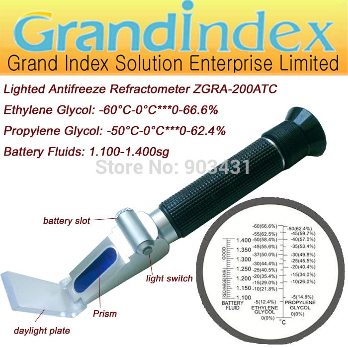 Antifreeze/Battery Illumination Refractometer ZGRA-200ATC(China (Mainland))
