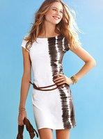 on sale! Fashion Dress with belt, MIni Clubbing Dresses, One Size,2544