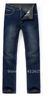 Promotion!New men's jeans with high quality free shipping fashion Cotton Straight Freeshipping