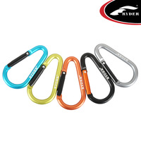 (Free Shipping)(available in stock)L4003 7mm D-shape Aluminum Carabiner Hook  Aluminum camp snap clip hook quick hanging