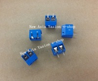 Free shipping 20PCS 250V 16A 2 Pin Screw Terminal Block Connector 5mm Pitch B
