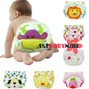 Free shipping! 6pcs/lot baby girls/boys' training pants pure cotton short pants animal modelling underwears