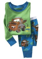 2014 Newest cotton long sleeve baby pajamas sets boy and girl sleepwear clothing sets free shipping