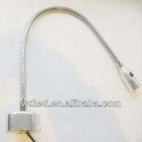 Flexible pipe led bedside wall light/snake bedroom reading light/ gooseneck bed head table light 1w