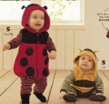 Free Shipping Infant Lovely Animal Clothing With Cap / Baby Romper,Lady beetles style,baby autumn/winter clothes