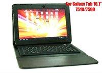 "10pcs/lot, For Samsung Galaxy Tab 10.1"" 7510/7500, Bluetooth Wireless Keyboard Case, Free Shipping"