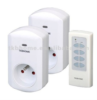 RF wireless remote control socket TW68F 1V2 with frequency 433MHz