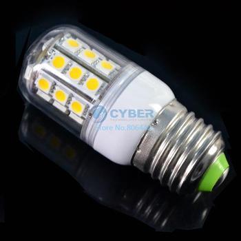Wholesale 5Pcs/Lot E27 SMD5050 30 LED Light Bulb Lamp Warm White 200-240V 360 degree Led Lighting Free Shipping