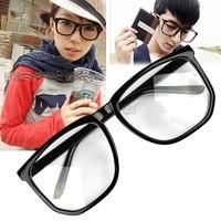 Free Shipping Oversized Tortoise Shell Retro Nerd Geek Black Clear Lens Plain Glasses For Fancy Dress B2# 4894