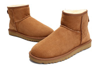 Free Shipping Wholesale 5854# Women's Banded Winter Short  Snow Boots, classic mini sheepskin boots, us 5-10