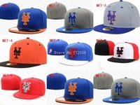 Wholesale New York Mets fitted hats baseball caps 12pcs/lot  free shipping