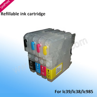 Refillable Ink Cartridges for Brother LC39 985 DCP-J125/J315W/J515W/MFC-J265W/J410/J415W/J220