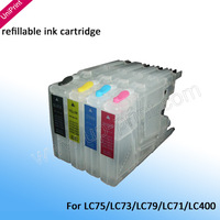 Refillable Ink Cartridges for Brother LC73  lc75 lc1220 lc400 DCP-J525W J725DW J925DW MFC J835DW