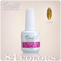 Free shipping+Wholesale 24Pcs/Lot(20Pcs color+2Top+2Base) 2013 New Brand 84 Color DIY UV&LED Gel Polish Makeup Nail Art Brush
