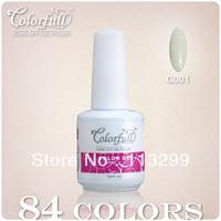 Free shipping+Wholesale  2013 CNF New Brand Colorfull  12Pcs/Lot(10Pcs color+1Top+1Base)84 Colors DIY UV&LED Nail Gel Polish