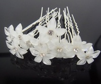 60 PCS crystal floret U hair sticks