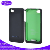 For iPhone 4 4S 4G External Rechargeable Backup Battery Charger Case Cover free shipping (With retail box)
