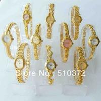 free shipping 10pcs Mixed lots 10pcs Gold Lady Wrist Women Watches A19