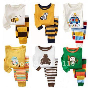 Cartoon Children Sport suit Pajamas Boys/Girls Tracksuit Korean 2012 New Arrival Kids Clothes 2pcs/set