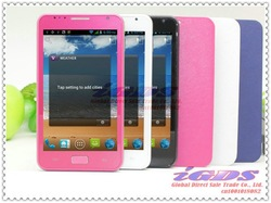 MTK6575 STAR A9220 android 4.06 with ROM 4GB 5.0 inch Screen 3G GPS 2GB-32GB white pink mtk 6575 i9200 cell Phone(China (Mainland))