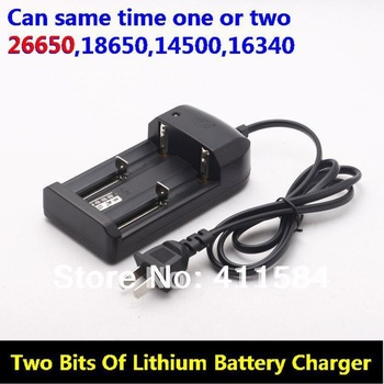 Intelligent Multifunctional two bits Battery Charger FOR 26650 18650 14500 16340Li-ion adapter