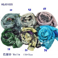 women&amp;#39;s fashion Hot-selling begonia flowers ink dream cotton voile scarf.scarf/shawls/scarves.170*75cm 20pcs/lot.HQJ01035