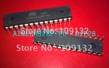 free shipping 10pcs/lot ATMEGA328P-PU CHIP ATMEGA328 Microcontroller MCU AVR 32K 20MHz FLASH DIP-28