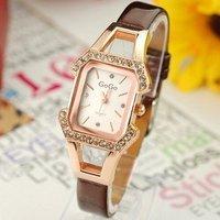 Wholesale women wristwatches ladies fashion leather strap quartz watch rhinestone Women watches  NW401