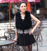 Factory direct sale    Genuine Turkey  Fur  vest /lady Waistcoat tassels / Topsale/Hotsale