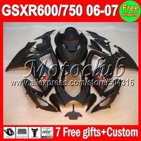 On sale+7gifts ALL Flat black For SUZUKI GSXR600 GSXR750 K6 06-07 GSXR 600 750 GSX-R600 R750 K6 06 07 2006 2007 Matte Fairing