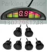 Guaranteed 100% Reverse Sensor Parking Radar New Mini LED Display Parking Sensor System with 6 Sensors + 2012 Best Selling