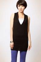 9271 Sexy Women Halter V neck Backless Stylish Knitted Vest Waistcoat Party Evening Dress Wholesale Dropship