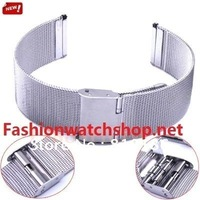Brand New All Size Width 8mm 10mm 12mm 14mm 16mm 18mm 20mm Stainless Steel Watch Mesh Bracelet Replacement Band