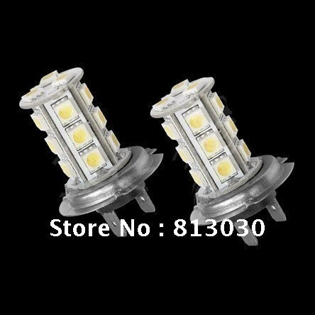 Freeshipping auto accessories led automotive bulb lamp h7 fog light 18smd(China (Mainland))