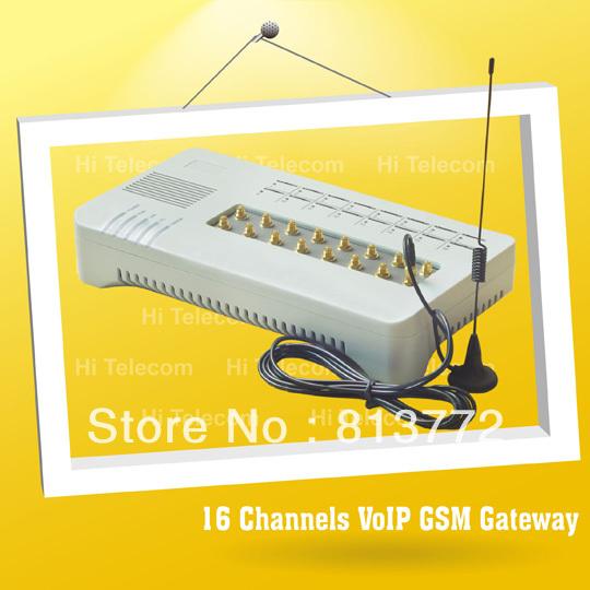Gsm call terminal voip gateway to goip 16 port \ voip sip skype phone(China (Mainland))