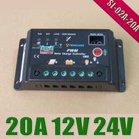 20A 12V 24V Wincong Auto intelligence Solar Charge Controller Regulators with Timer and Light Sensor