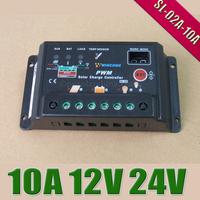 10A 12V 24V Wincong Auto intelligence Solar Charge Controller Regulators with Timer and Light Sensor
