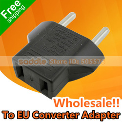 Wholesale 20Pcs/Lot ! Power Plug Convertor Adapter US To EU ! Free Shipping !(China (Mainland))