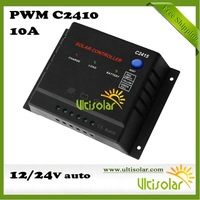PWM Solar Charger Controller C2410 10A 12V 24V CE RoHS Protection from Overload Overcharge Overdischarge and Thunder Free