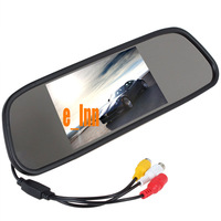 Hot sale 4.3 inch Rear Mirror  Car LCD Car  Monitor Car Reverse Backup Camera Kits