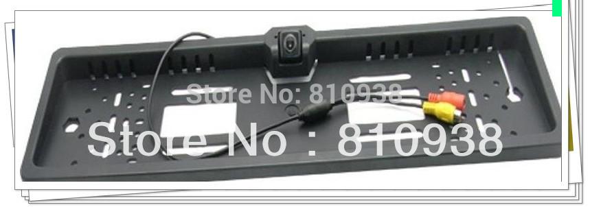 Free shipping 1pc/lot New Universal Night Vision European License Plate Frame Car Camera,car reversing camera(China (Mainland))