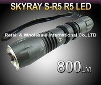 FREE SHIPPING, SKYRAY S-R5 Cree R5 800Lumens 5-Mode LED Flashlight Torch