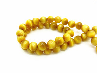 Turkish Gold Evil Tiger Eye Beads Round Authentic Natural Stone Bead Quartz Mix Size Strands for Jewelry DIY Making HA850